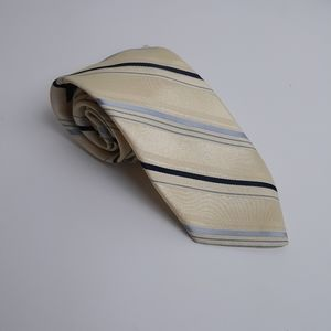 Vintage Yves Saint Laurent striped tie yellow
